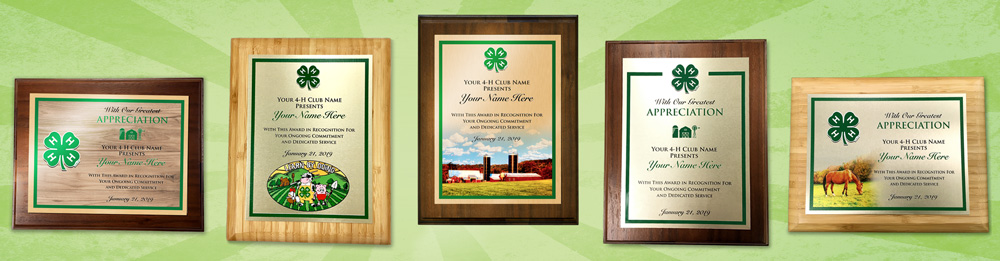 custom 4-h plaque ordering is easy • low prices • full color