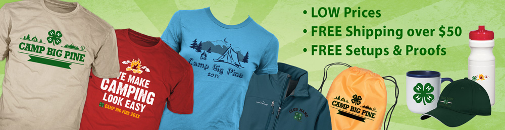 4-H Summer Camp product banner