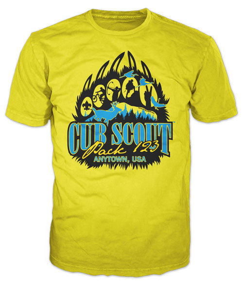 Best Two Color Cub Scout Pack T-Shirt of 2020