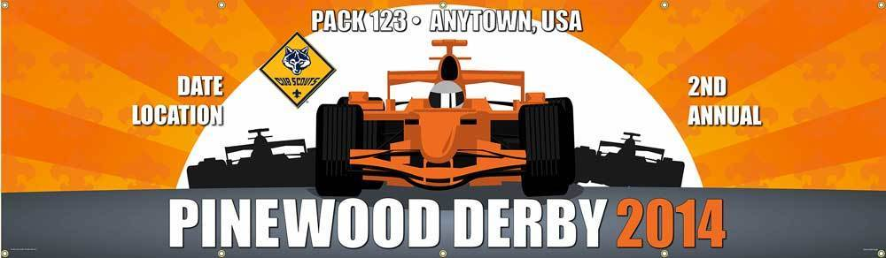 pinewood derby banner
