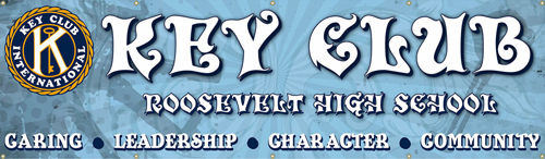 Key Club Banner Roosevelt Ghost Keys