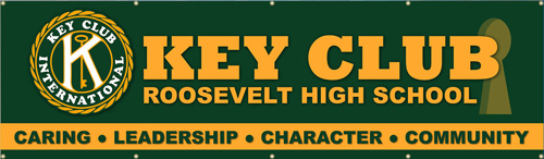 Key Club Banner Roosevelt Key Hole