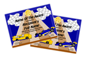 pinewood derby certificate award gold