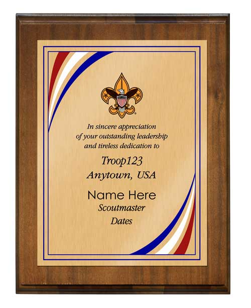 example of custom plaque with reward picture