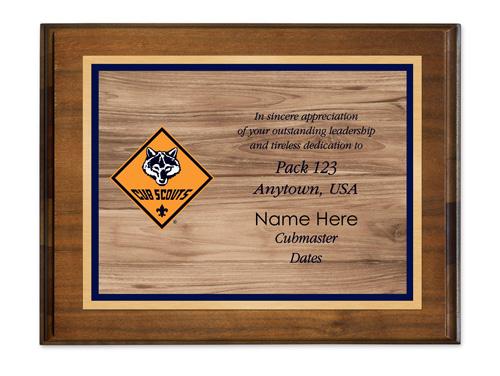 cub scout plaques with cub scout logo