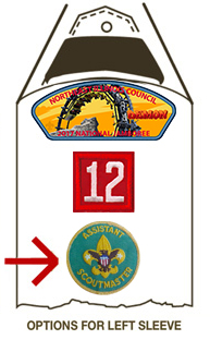 badge of office position patch on scout uniform
