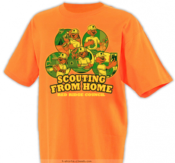 scouting from home council event t-shirt