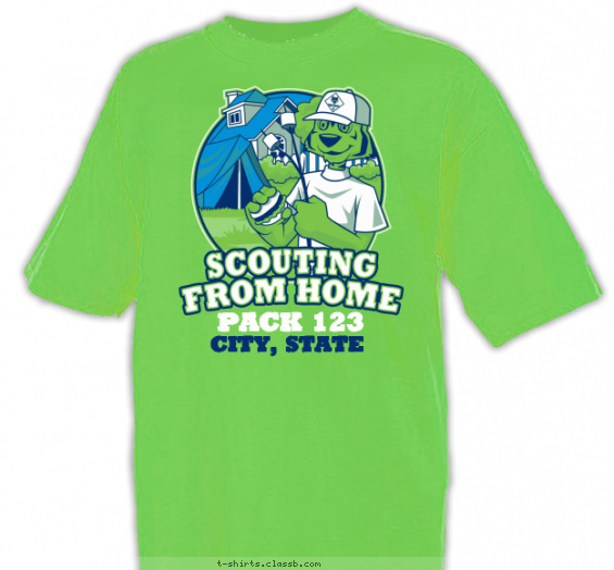 scouting from home cub scout pack t-shirt
