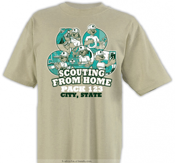 scouting from home cub scout pack event t-shirt
