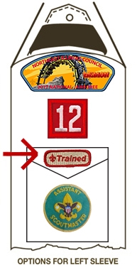 trained patch on scout uniform