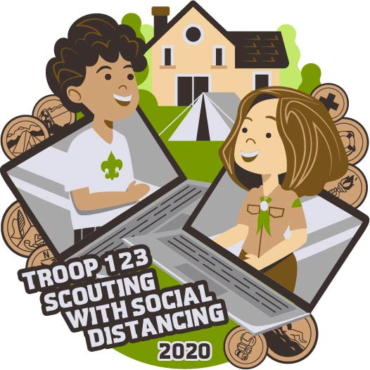 Troop scouting with social distancing design idea