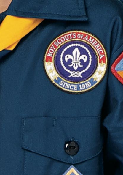 above left pocket Cub Scout uniform world crest patch