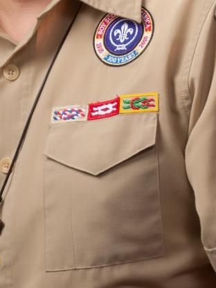 above left pocket of scout uniform patch placement