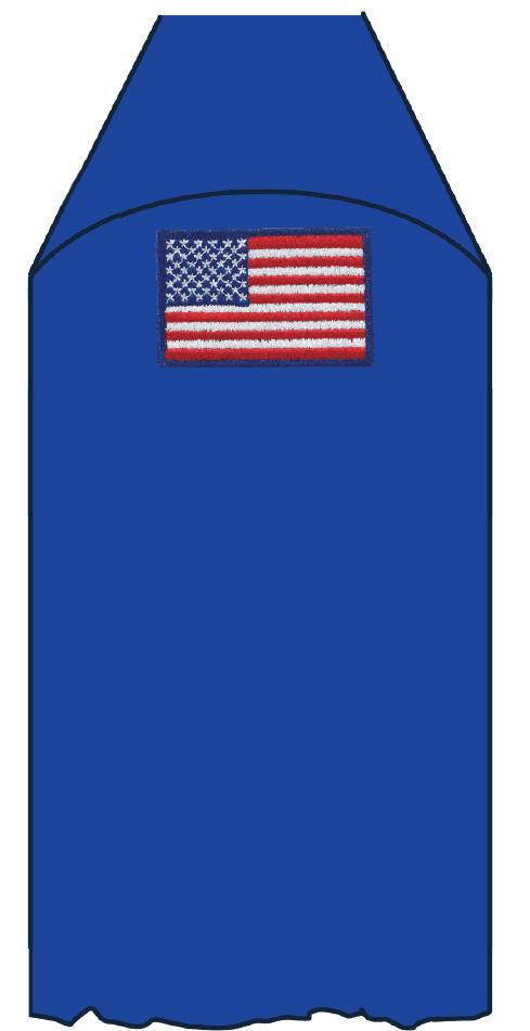 Cub Scout uniform placement American flag patch