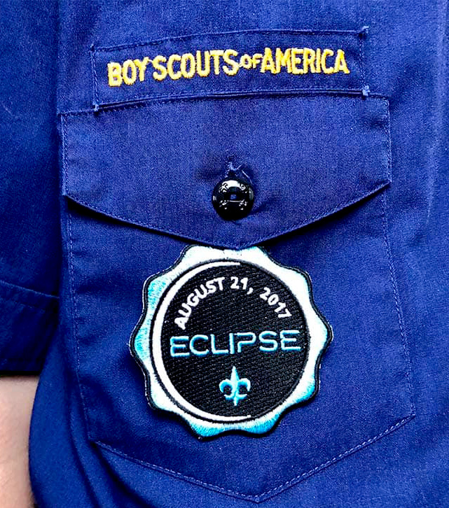 right pocket temporary patch on cub scout uniform