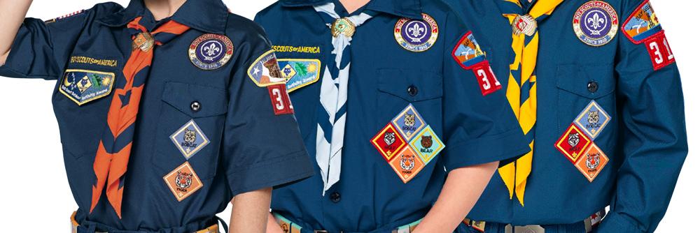 official Cub Scout Uniform with patches