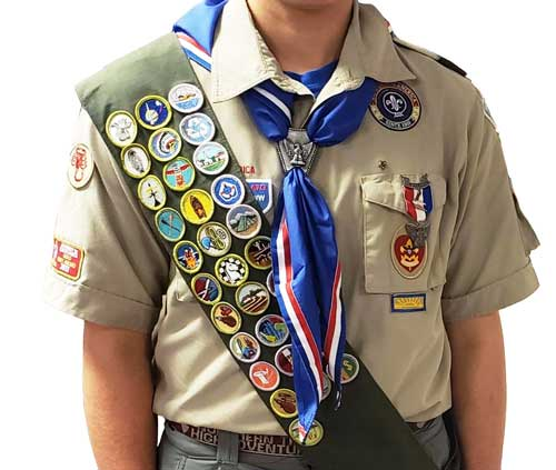 official Boy Scout Uniform with patches