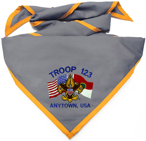 embroidered scout neckerchief examples