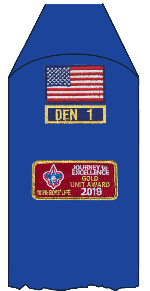 journey to excellence patch on uniform