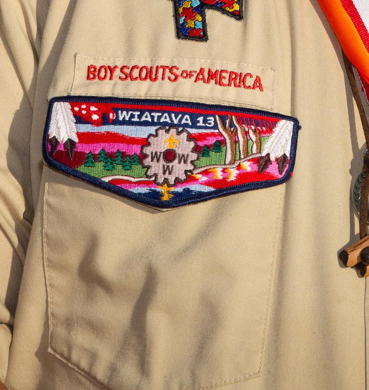 order of the arrow Right Pocket Flap patch on scout uniform