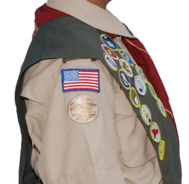 right sleeve of scout uniform