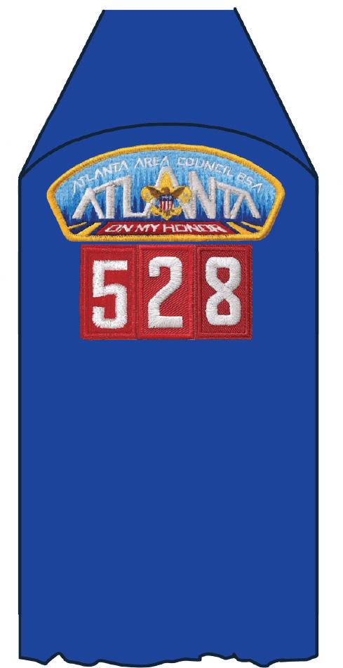 unit numeral patch Cub Scout pack on uniform