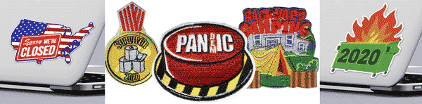 fun 2020 patches and stickers