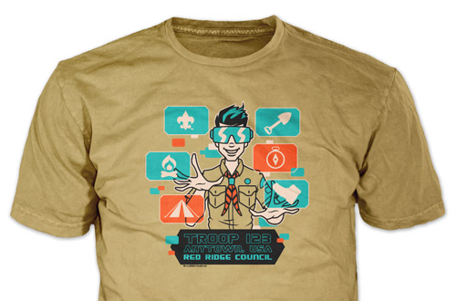 scouting from home virtual scouting t-shirt design