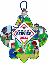 boy scouts of america 2021 summer of service activity patch