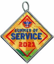 boy scouts of america 2021 summer of service patch