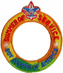 boy scouts of america 2021 summer of service ring patch