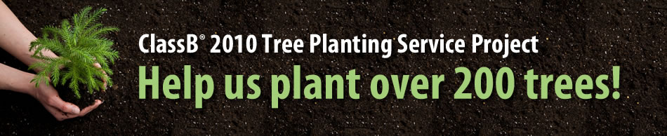 ClassB Tree Planting 2010 Header