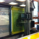 Kiwo printing the emulsion with a custom image
