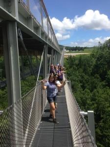 ClassB crossing the CONSOL Energy Bridge