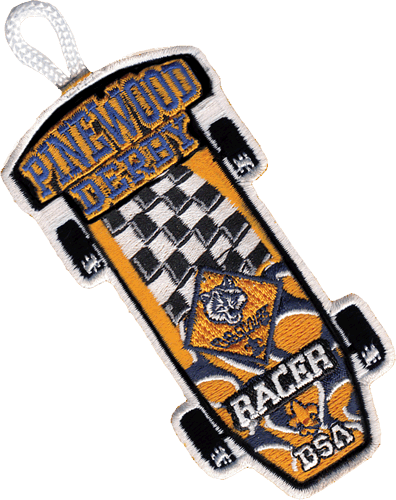 pinewood derby patch racer