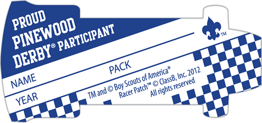 FREE Racer Patch Stickers