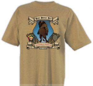 SP3246 Buffalo wood badge patrol yell custom t-shirt design