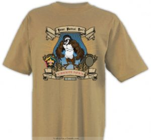 Bobwhite custom wood badge t-shirt design SP3250