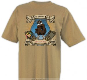 SP3248 Owl wood badge patrol yell custom t-shirt