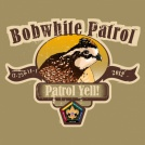 Bobwhite wood badge patrol yell custom t-shirt design SP3700