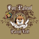 Wood badge fox patrol custom t-shirt design SP3702