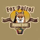 Wood badge fox patrol yell custom t-shirt design SP3713