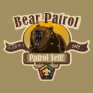 SP3715 Roaring Bear Wood Badge Custom Patrol t-shirt design