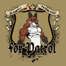 Custom wood badge fox patrol t-shirt design SP3721