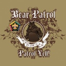 SP3729 Bear Patrol Yell Wood Badge course custom t-shirt deisgn