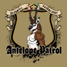 SP3748 custom wood badge antelope t-shirt
