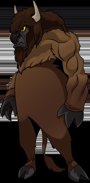 ClassB cartoon wood badge buffalo figure