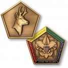 wood badge antelope medallion