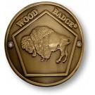 wood badge buffalo hiking staff medallion