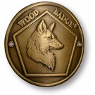 wood badge fox hiking staff medallion